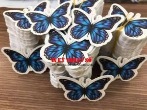 In tag giấy hình bướm theo yêu cầu - In Kỹ Thuật Số Since 2006