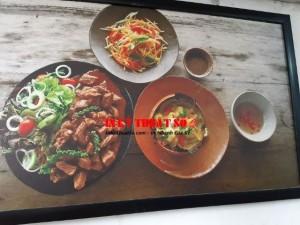 In tranh ẩm thực trang trí nhà hàng, quán ăn, quán cafe, trà sữa TPHCM - In Kỹ Thuật Số Since 2006