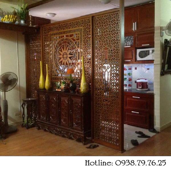 Thiết kế vách ngăn phòng thờ cnc tại Phú Yên