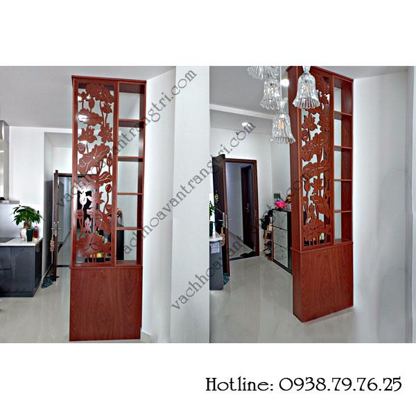 Chuyên thi công vách ngăn cnc bằng gỗ trang trí phòng khách giá rẻ