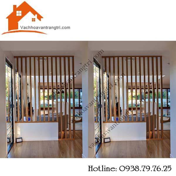 Nhận thi công thanh lam gỗ trang trí phòng khách