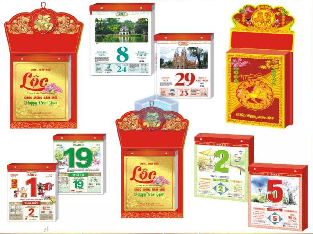 Xưởng in lịch quà tặng, nhiều mẫu lịch tết thiết kế đẹp giá rẻ tại xưởng Nhà cung cấp lịch tết uy tín chất lượng