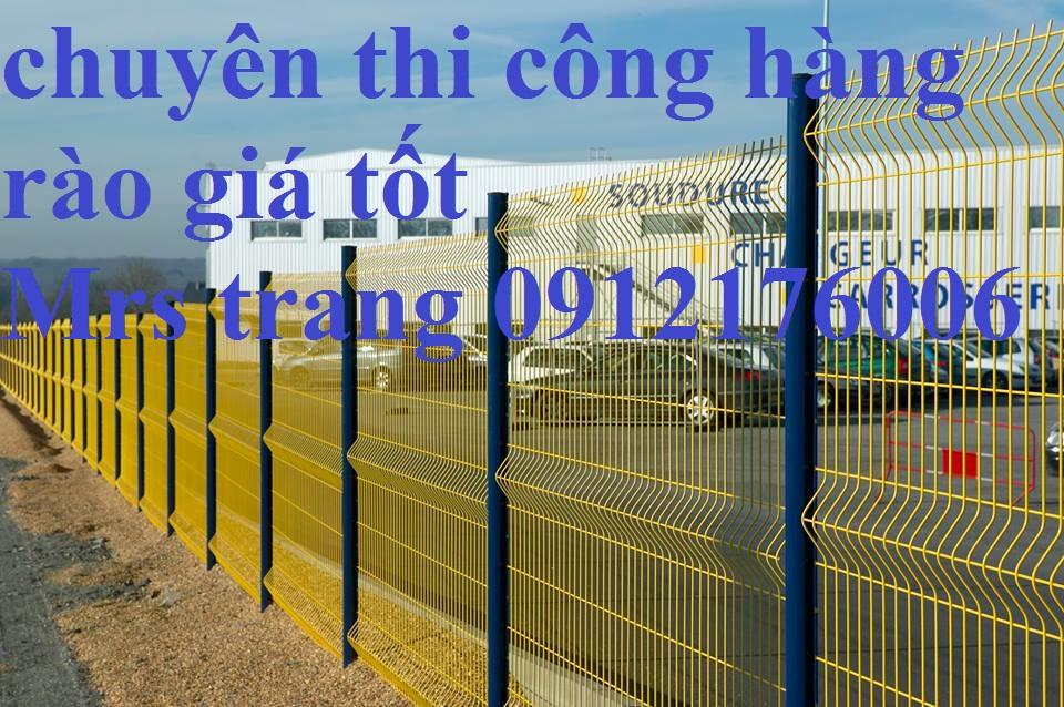 Dịch vụ làm hàng rào chấn sóng phi 4.5.6 mạ kẽm sơn tĩnh điện