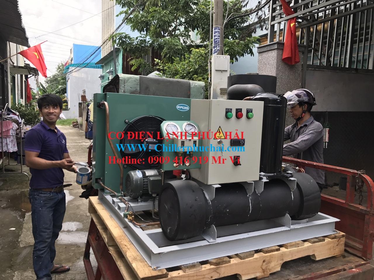 Chuyên cung cấp lắp đặt chiller giải nhiệt nước công nghiệp