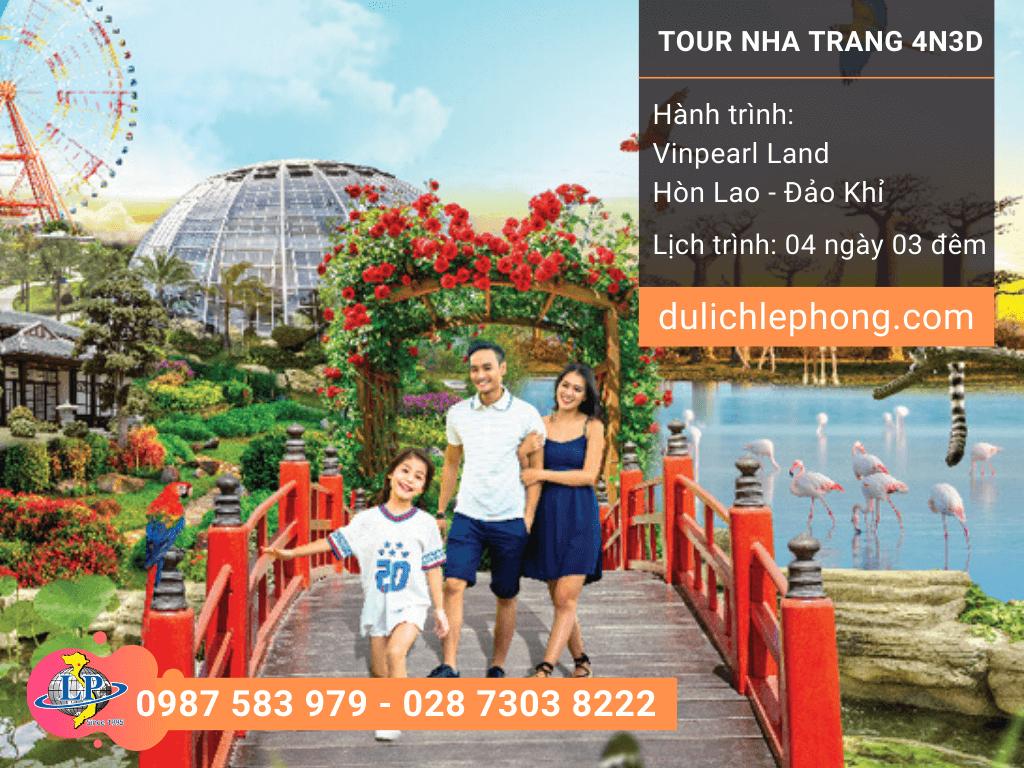 [ TOUR TẾT 2020 ] Tour du lịch Nha Trang 4 ngày 3 đêm – Vinpearl Land – Hòn Lao – Đảo Khỉ - Du lịch Nha Trang Lê Phong