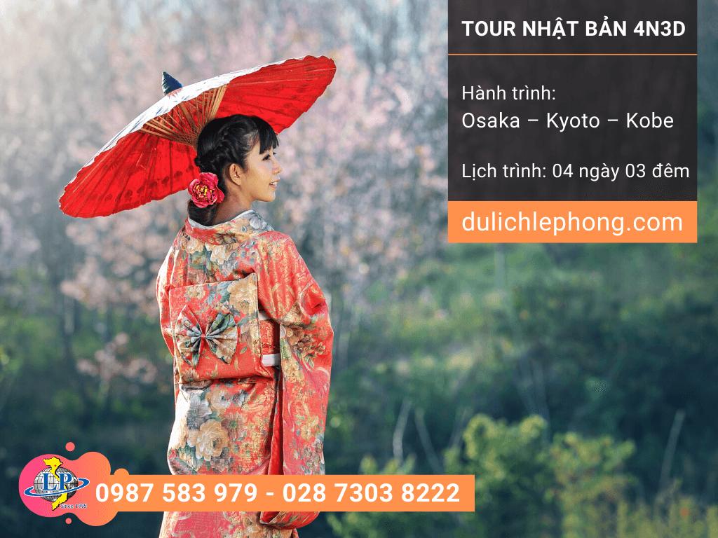 [ DU XUÂN ] Tour du lịch Nhật Bản 4 ngày 3 đêm - Osaka - Kyoto - Kobe - Du lịch Nhật Bản Lê Phong