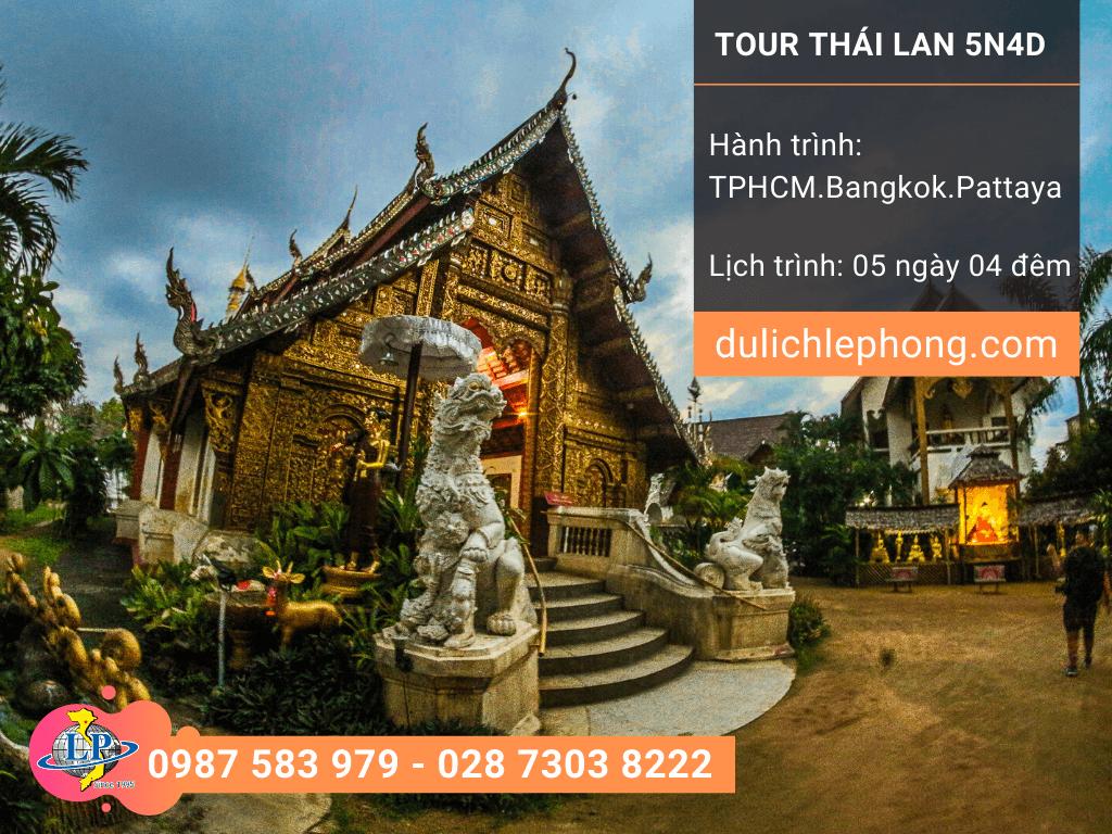 Tour du lịch Thái Lan Tết 2020 TPHCM - Bangkok - Pattaya - 5 ngày 4 đêm - Du lịch Thái Lan Lê Phong