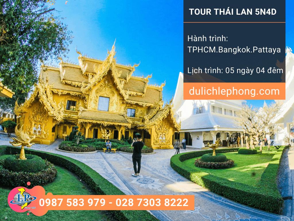 Tour du lịch Thái Lan Mùng 1, Mùng 2, Mùng 4 Tết từ TPHCM - Bangkok - Pattaya 5 ngày 4 đêm - Du lịch Thái Lan Lê Phong