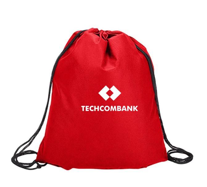 Cơ sở may balo dây rút ngân hàng Techcombank