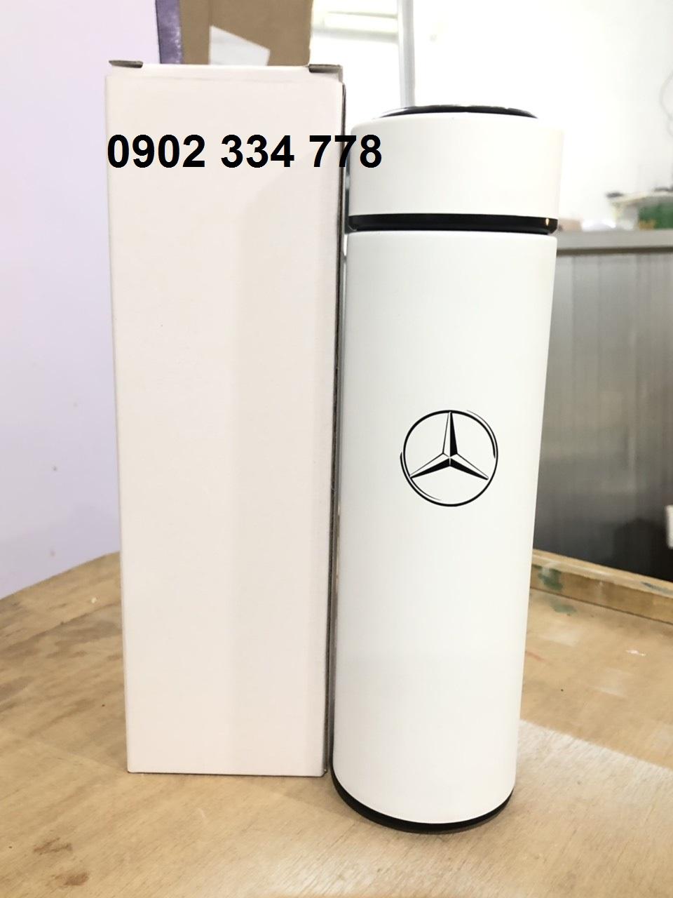 Xưởng sản xuất bình giữ nhiệt in logo Mercedes
