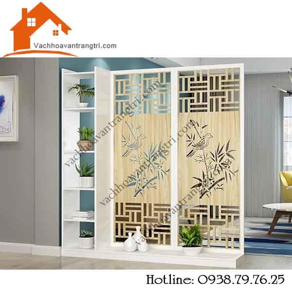 Thi công vách ngăn di động bằng gỗ trang trí nội thất đẹp