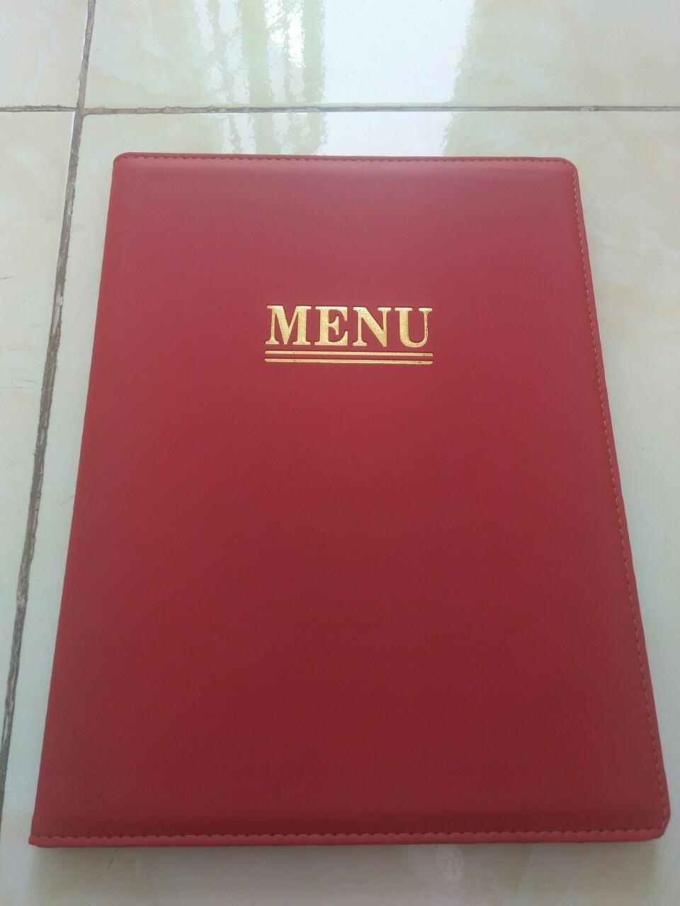 Cung cấp menu bìa da trên toàn quốc, bìa menu da, bìa kẹp thực đơn, bìa kẹp bill thanh toán có sẵn