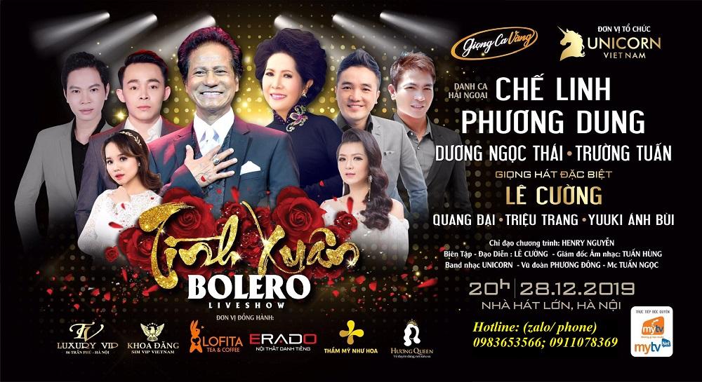 Bán vé đêm nhạc Chế Linh; Phương Dung ngày 28/12/2019 tại Nhà hát lớn Hà Nội