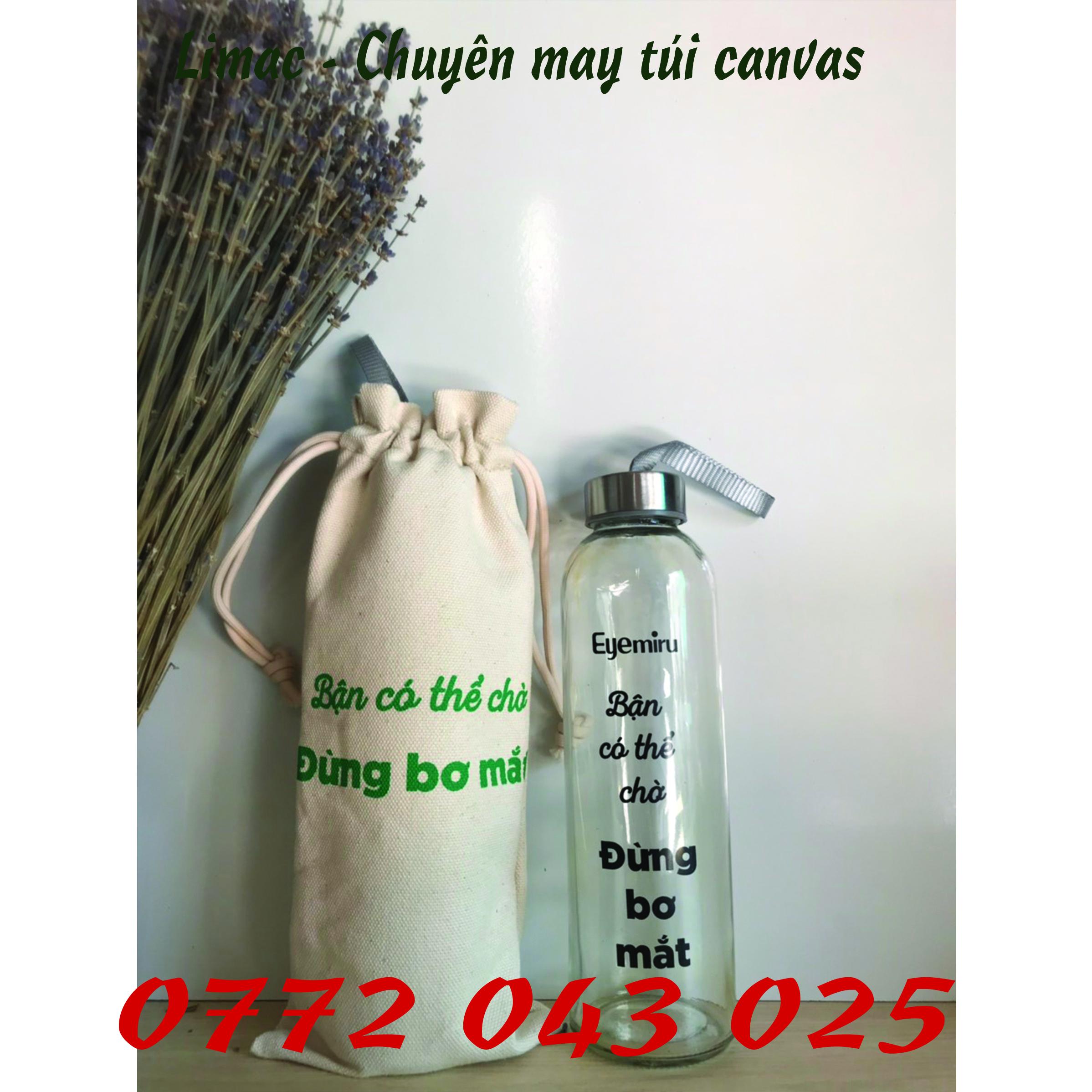 Xưởng may túi đựng chai nước 500ml giá tốt