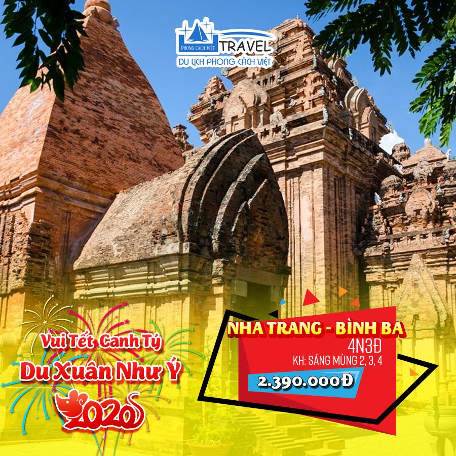 Tour Nha Trang – Bình Ba 4N3Đ Tết 2020