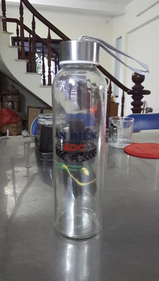 Nhận in bình nước thủy tinh 500ml giá rẻ ở Đà Nẵng