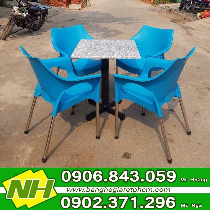 Dịch vụ tư vấn mở quán cafe sử dụng Bàn ghế nhựa Kim Ngọc - Nội thất Nguyễn hoàng