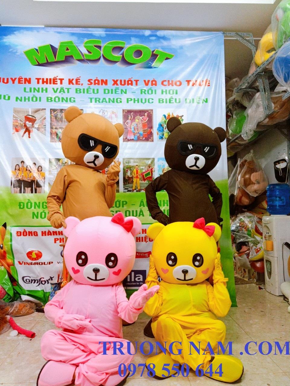Cho thuê mascot gấu lầy Tiktok