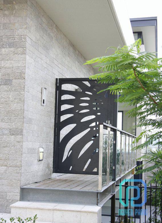 Cổng sắt CNC, cổng uốn nghệ thuật tinh xảo và hiện đại 2020