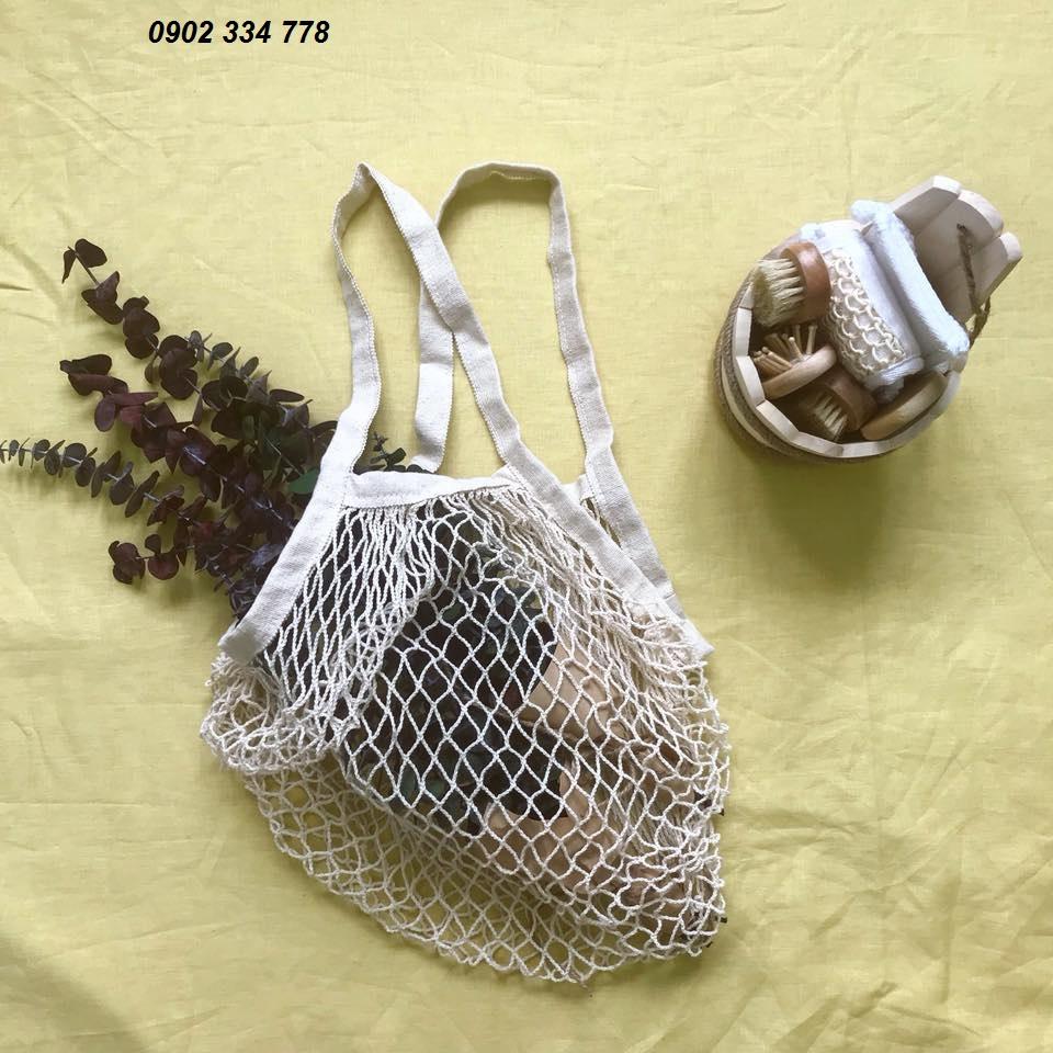 Chuyên may Túi lưới đi chợ thân thiện với môi trường, tiện lợi, đựng rau củ quả hay làm túi xách đựng đồ kiểu vintage