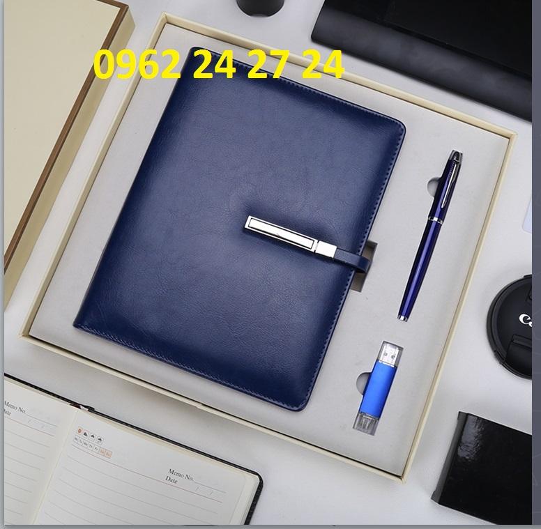 Sản xuất bộ giftset văn phòng - sổ da bút ký usb