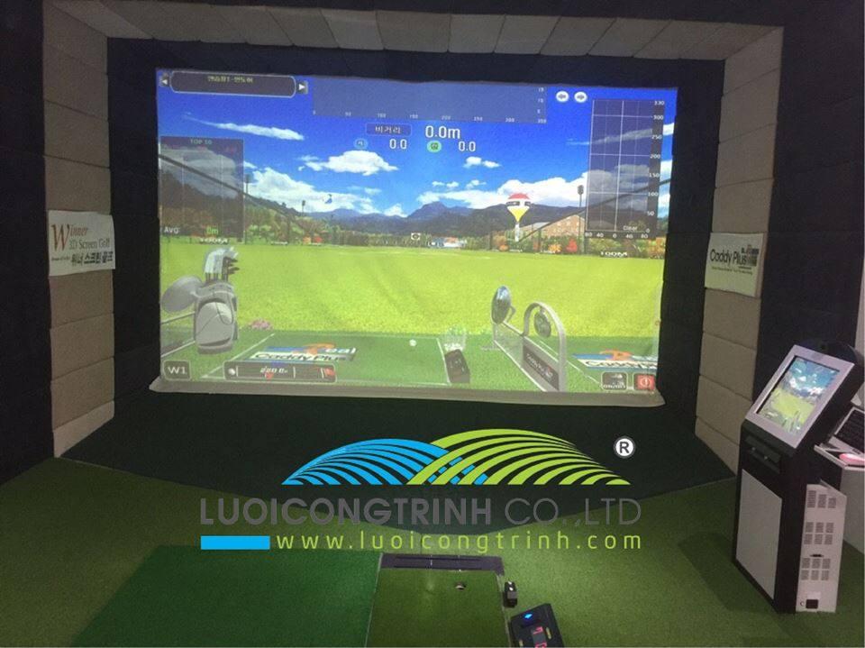Thi Công Phòng Golf 3D trong nhà