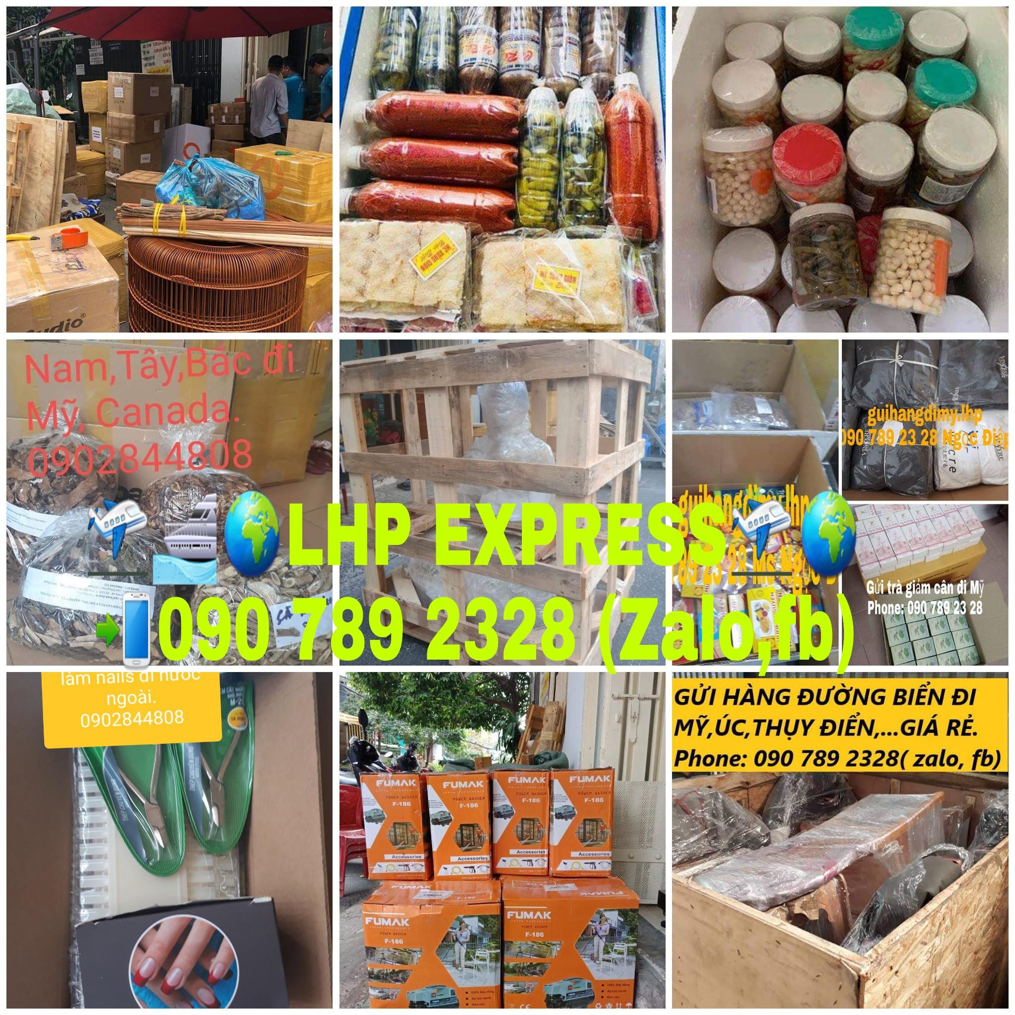 Gửi thực phẩm đi Mỹ, gửi hàng hóa đi nước ngoài bằng đường bay và tàu biển