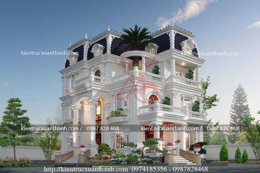 Thiết kế biệt thự 3 tầng phong cách Pháp