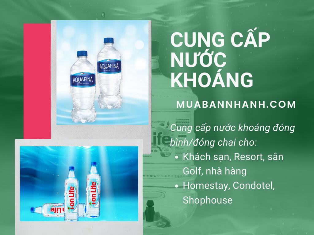 Đối tác cung cấp nước khoáng đóng bình, đóng chai cho khách sạn, Resort, sân Golf, nhà hàng, Homestay, Condotel, Shophouse