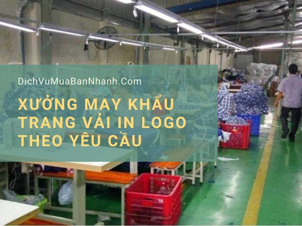 Xưởng may khẩu trang vải in logo theo yêu cầu TPHCM - Nhận đặt từ 50, 100, 1000, 2000 khẩu trang giá sỉ