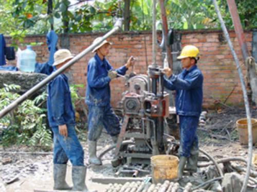 Khoan giếng huyện Châu Thành, Cai Lậy Tiền Giang, tỉnh Bến Tre và Long An