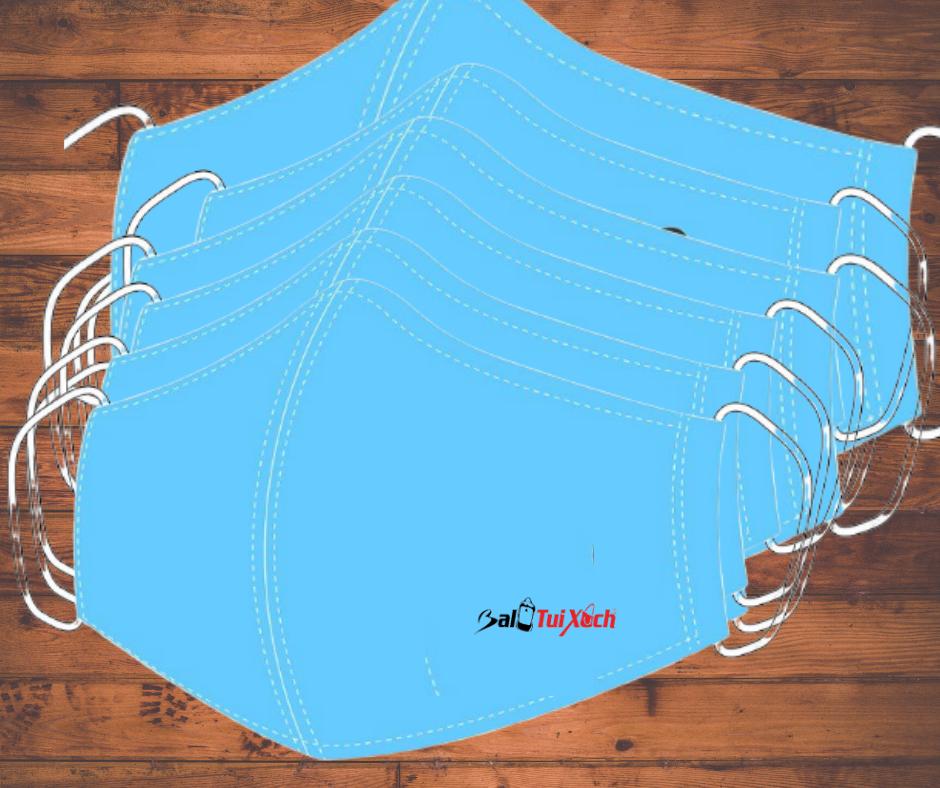 May in logo 200 khẩu trang vải bọc viền giặt nhiều lần
