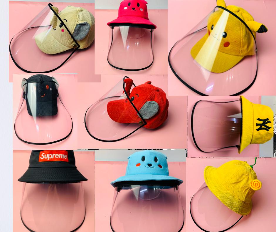 Xưởng may nón bảo hộ, nón chống dịch có màng che ngừa Covid theo yêu cầu quảng cáo doanh nghiệp