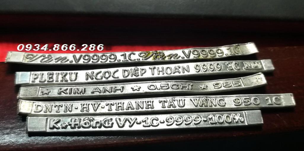 Nhận gia công máy cán chữ - chữ chìm chữ nổi trên nhẫn vàng 24k