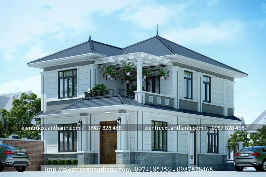 Biệt thự 2 tầng mái thái siêu đẹp BT18550