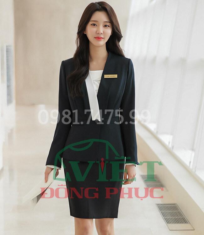 Địa chỉ may đồng phục áo vest nữ theo size, chuẩn dáng người mặc