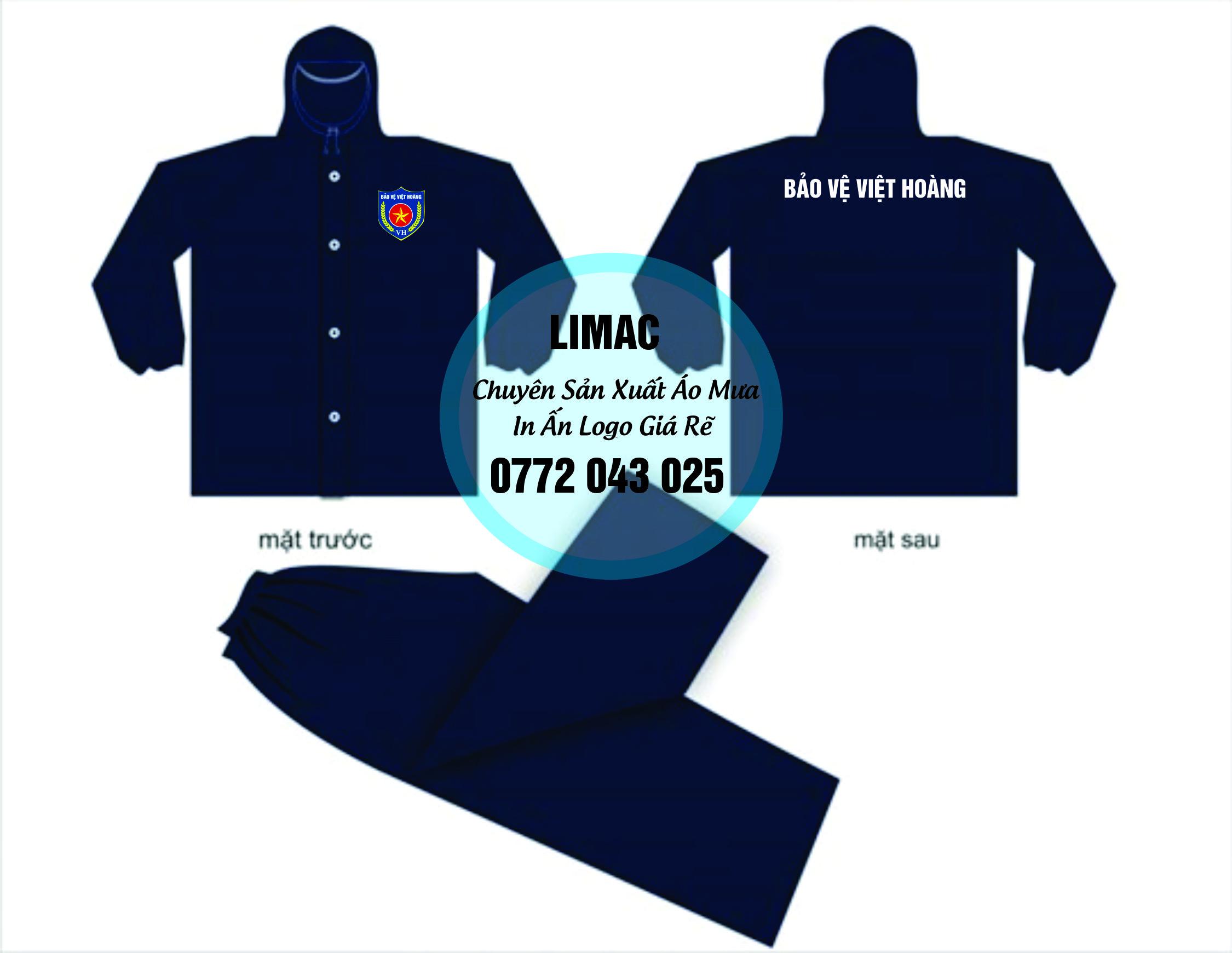 Chuyên sản xuất áo mưa bộ in logo cho các công ty bảo vệ
