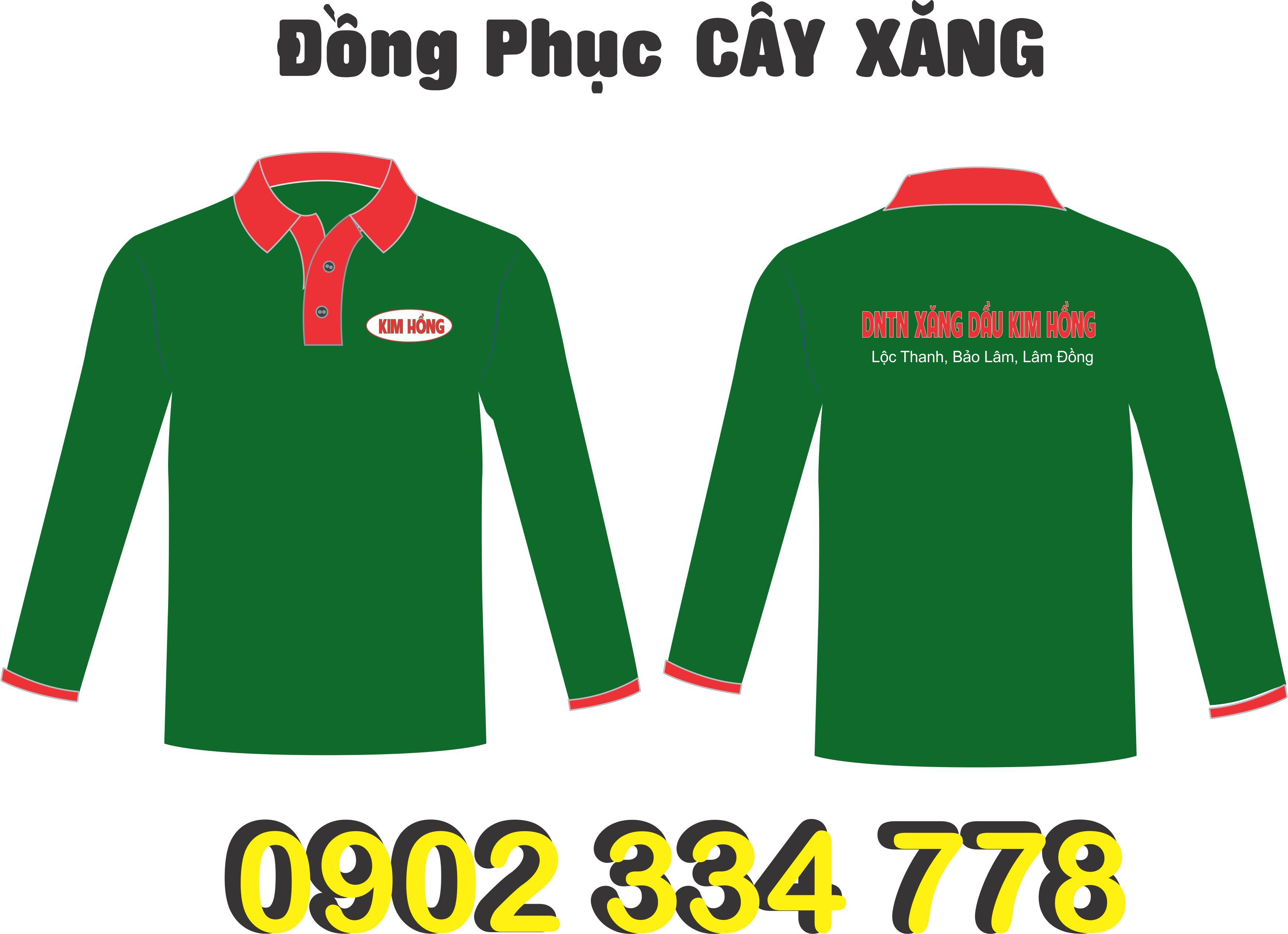 công ty may áo tay dài đồng phục cây xăng
