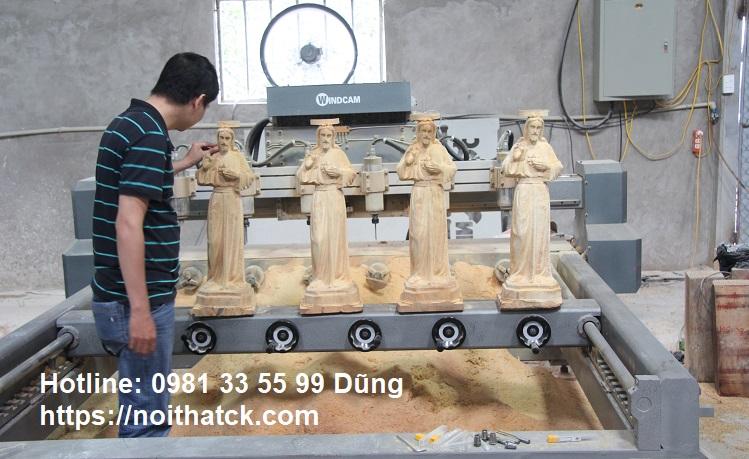 Nhận Chạm khắc tượng gỗ CNC số lượng lớn ở Tphcm