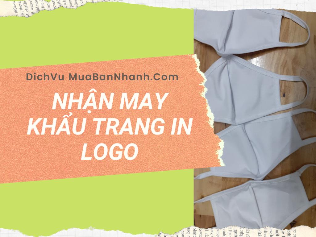 Nhận may khẩu trang vải in logo công ty, thương hiệu làm quà tặng nhân viên, khách hàng