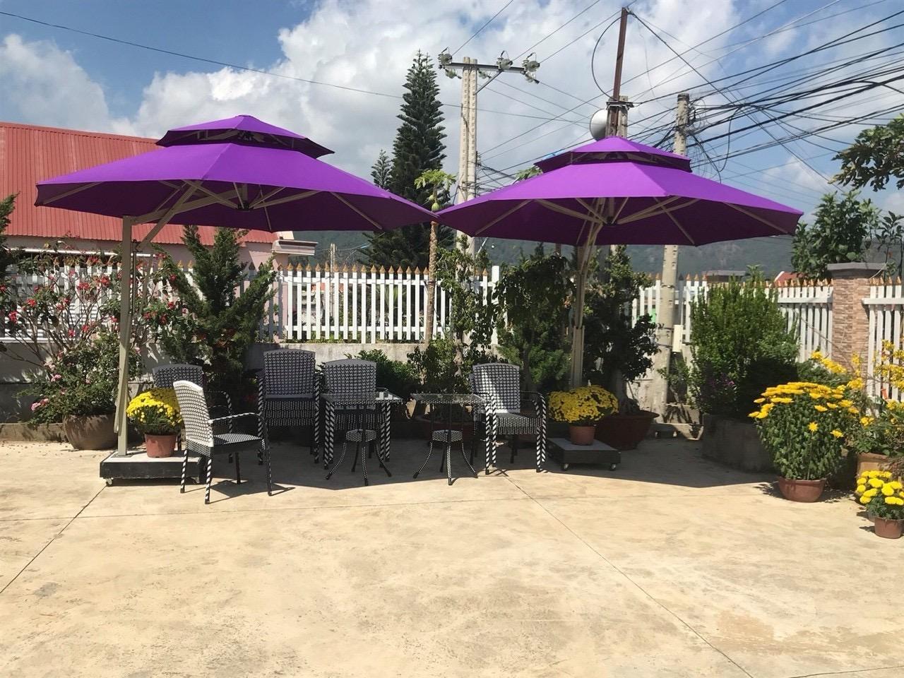 Xưởng sản xuất dù cafe che nắng - nội thất Nguyễn hoàng