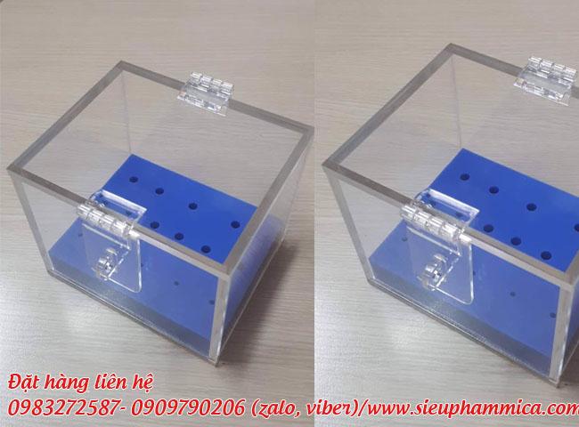 Chế tác hộp chụp mica, hộp trưng bày mica
