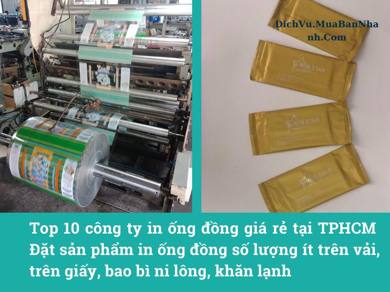 Top 10 công ty in ống đồng giá rẻ tại TPHCM - Đặt sản phẩm in ống đồng số lượng ít trên vải, trên giấy, bao bì ni lông, khăn lạnh