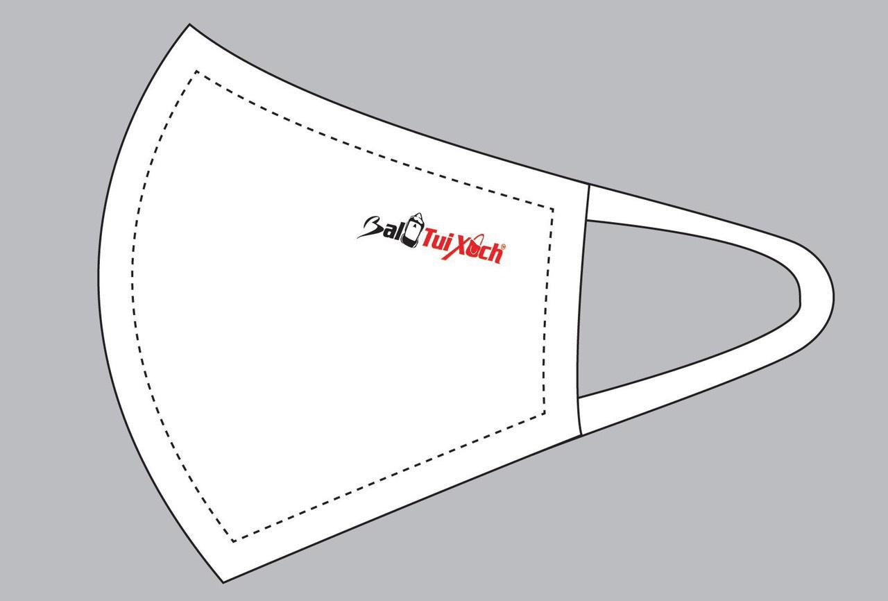 Nhận may khẩu trang vải in thêu logo công ty, thương hiệu | Supply gauze mask sewing service with printing brand logo