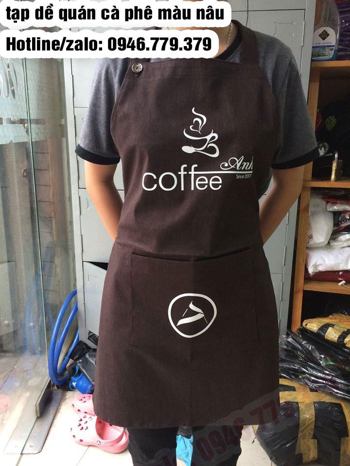 Tạp dề đồng phục, tạp dề quán ăn nhà hàng tiệm nail may sẵn in logo theo yêu cầu giá rẻ