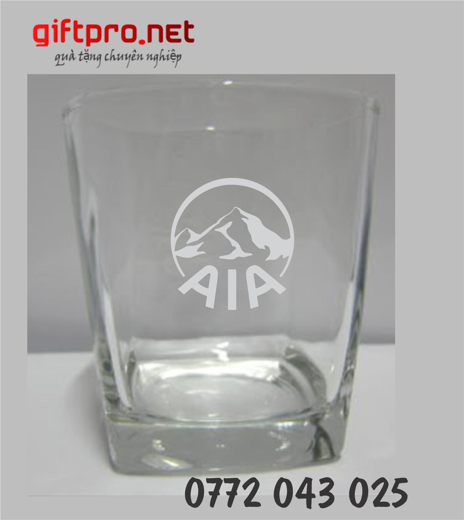 Xưởng in ly thủy tinh thái lan giá rẻ - ly thủy tinh UG 361 - ly thủy tinh đế vuông