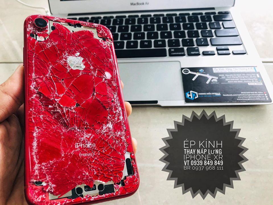 Ép Kính Thay Nắp Lưng iPhone Xr không bung máy tại BRVT