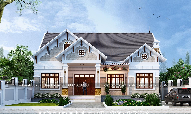 Thiết kế biệt thự 1 tầng phong cách độc đáo - BT18558