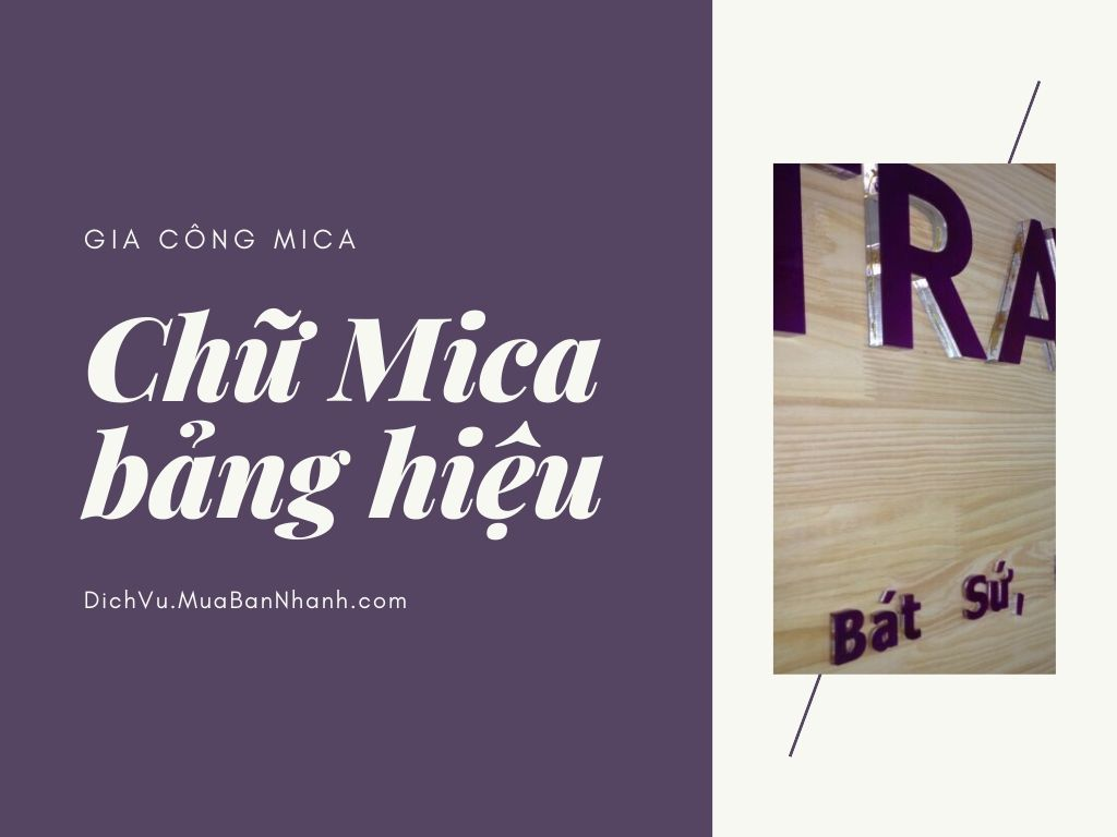 Báo giá thi công chữ mica, inox mica, gia công chữ nổi mica làm bảng hiệu công ty
