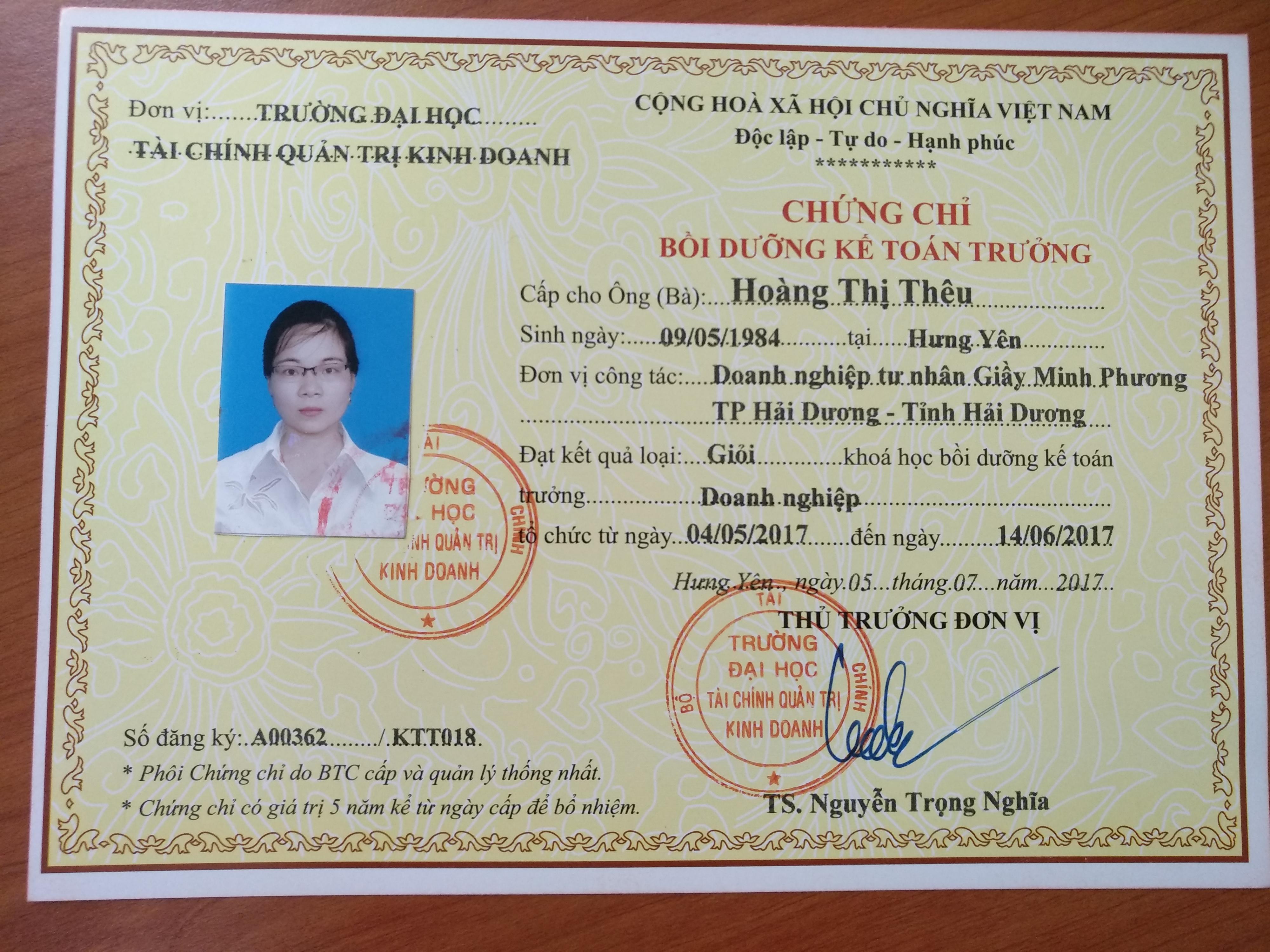 Đào tạo chứng chỉ kế toán trưởng tại Hà Nội - Cô Hằng phòng đào tạo